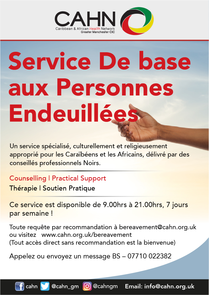 CAHN-Bereavement-Service-French-flyer